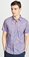 Faherty Short Sleeve Coast Shirt In Floral Print