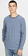 Faherty Long Sleeve Luxe Heather Reversible Crew Neck