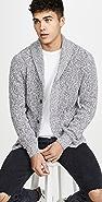 Faherty Long Sleeve Marled Cotton Cardigan