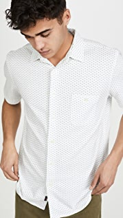 Faherty Short Sleeve Knit Coast Button Down Shirt