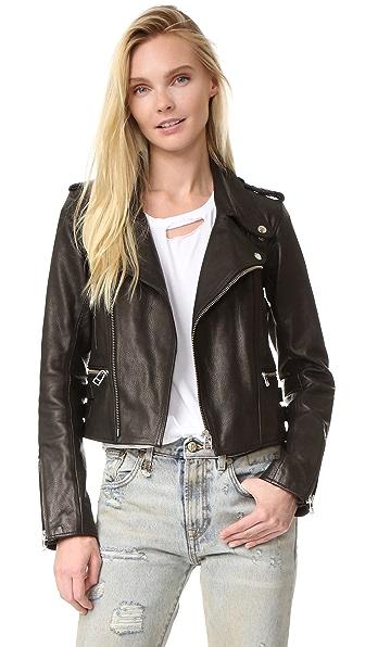 Faith Connexion Boxy Leather Jacket