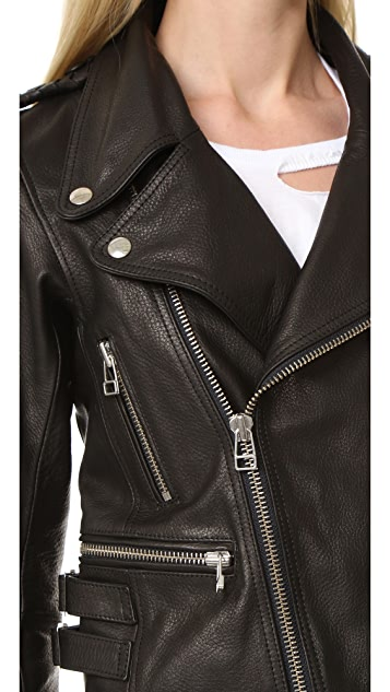 Faith Connexion Boxy Leather Jacket