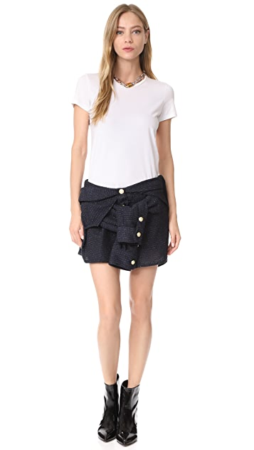 Faith Connexion Tweed Miniskirt