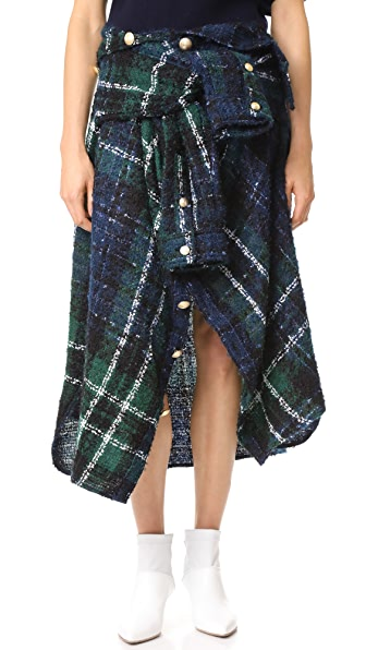 Faith Connexion Tweed Skirt