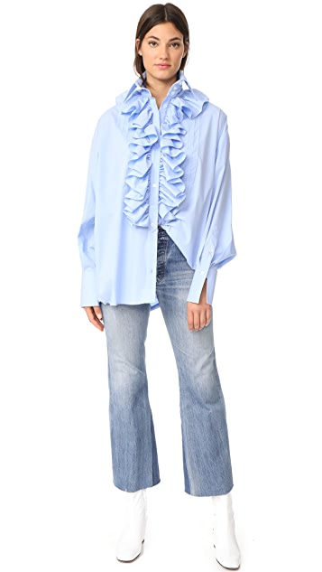Faith Connexion Pop Ruffle Shirt