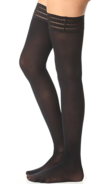Falke Pure Matte 50 Thigh High Tights - Black