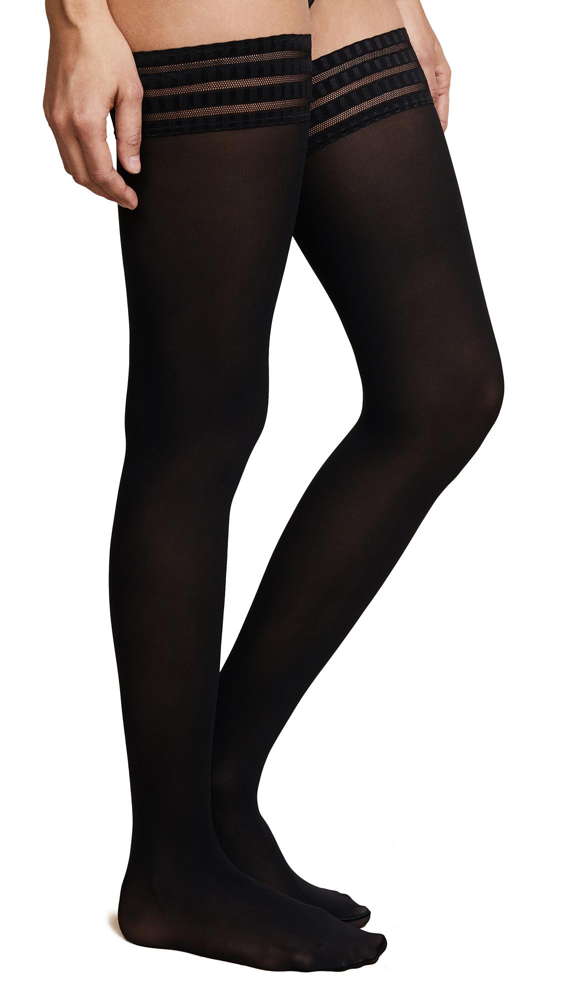 Falke Pure Matte 50 Thigh High Tights - Black