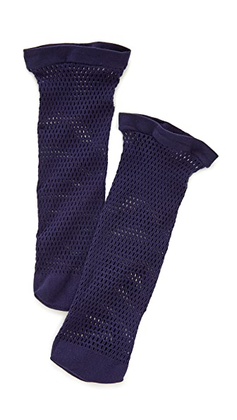 Falke Autumn Basket Ankle Socks In Blue Collar