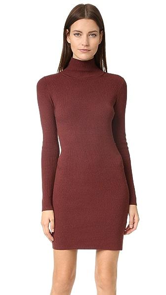 525 America Ribbed Turtleneck Dress