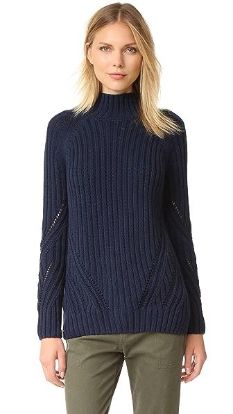 525 America Boyfriend Mock Neck Sweater