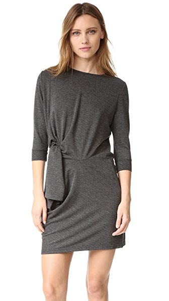 525 America Side Tie Dress - Dark Heather