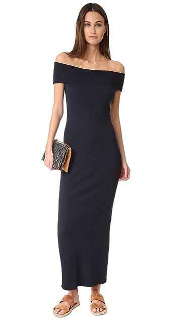 525 America Rib Off Shoulder Maxi Dress