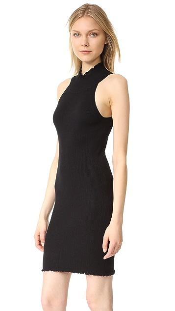 525 America Lettuce Edge Mock Dress