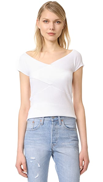 525 America Crisscross Top - Bleach White