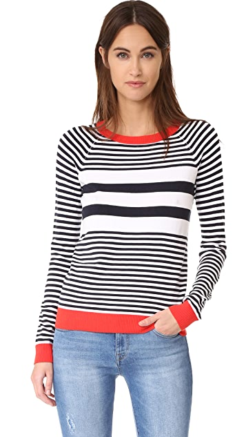 525 America Stripe Crew Neck Sweater