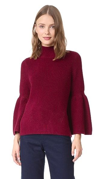 525 America Shaker Crop Sweater In Blackcherry