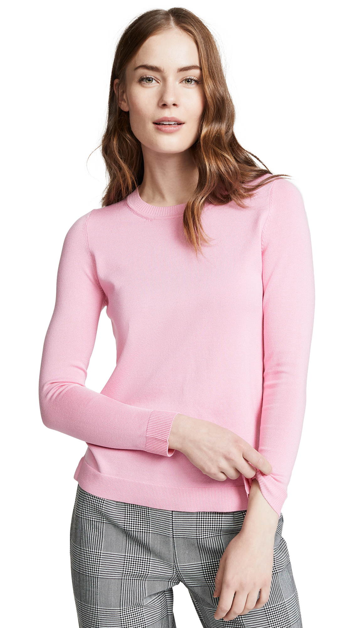525 AMERICA Crew Neck Sweater in Pink