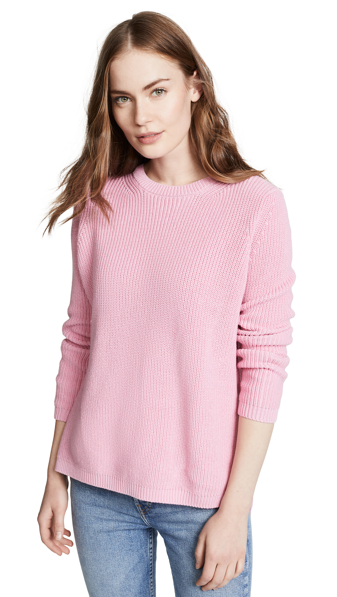 525 AMERICA Shaker Crew Sweater in Neutrals