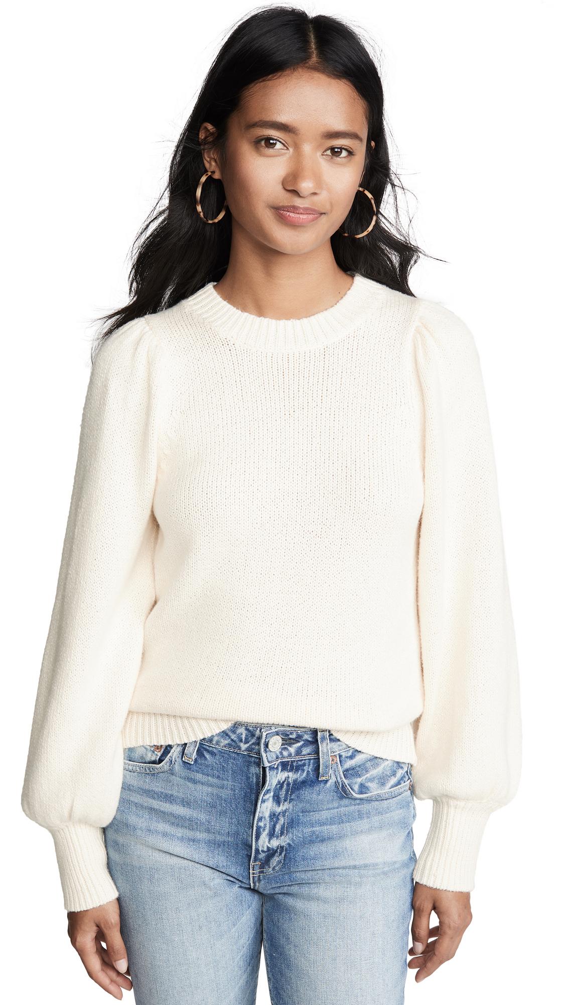 525 Puff Sleeve Crew Sweater