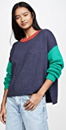 525 Colorblock Crew Sweater