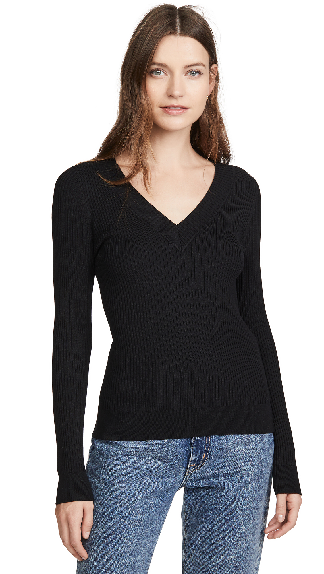 Buy  online - photo of 525 Wide Rib V Neck Pullover