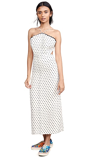 Photo of  FARM Rio Onca Dot Midi Dress - shop FARM Rio dresses online sales