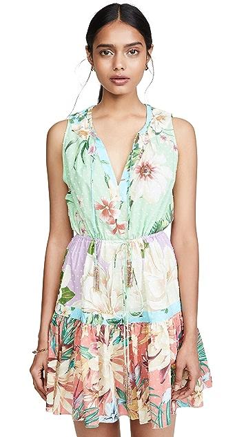 FARM Rio Mixed Floral Mini Dress