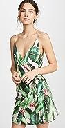 FARM Rio Pink Palms Mini Wrap Dress