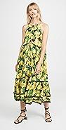 FARM Rio Black Lemon Midi Dress