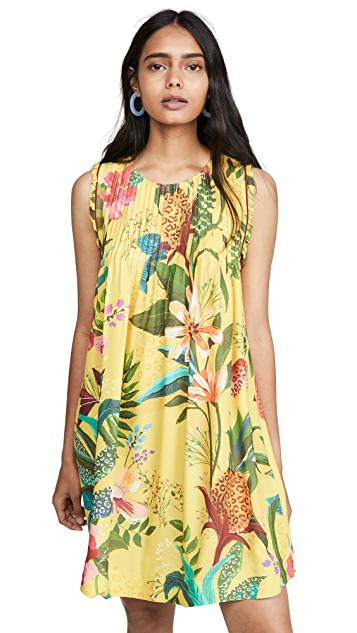 FARM Rio Golden Jungle Mini Dress