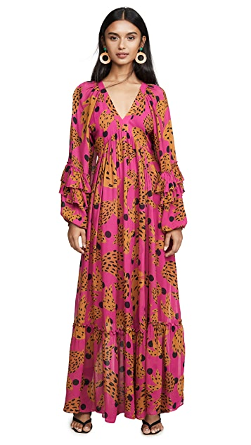FARM Rio Pink Banana Maxi Dress