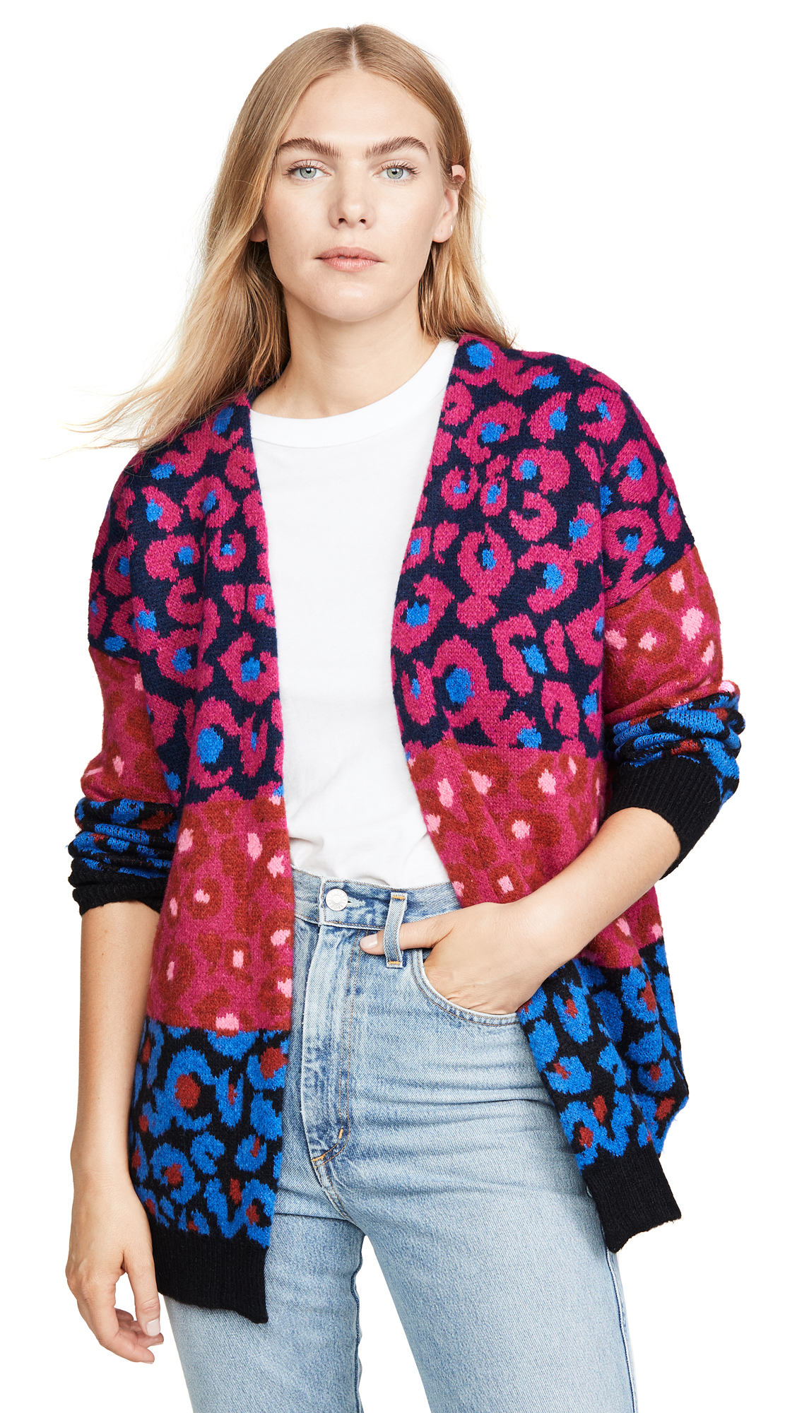 Buy FARM Rio online - photo of FARM Rio Mixed Leopard Cardigan