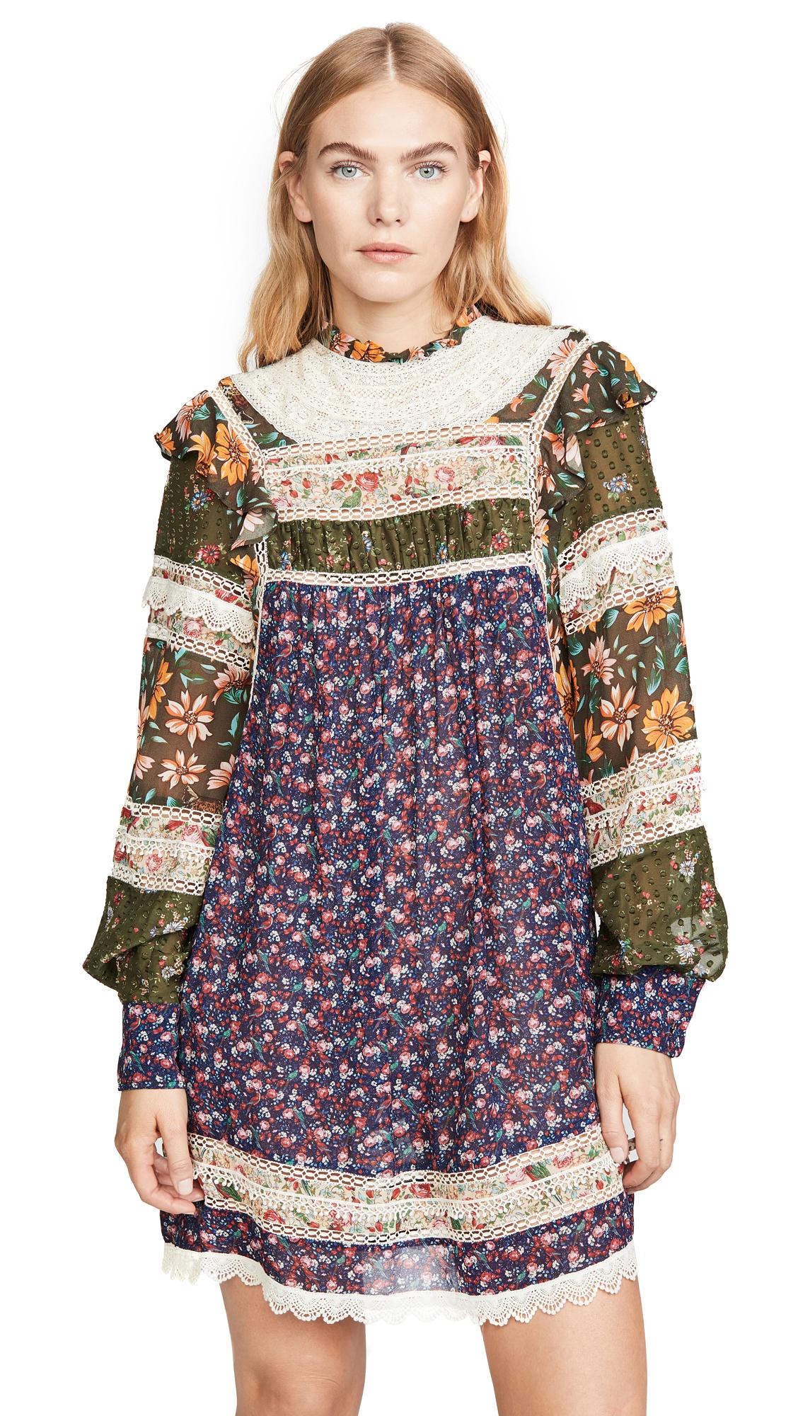 Buy FARM Rio online - photo of FARM Rio Mixed Liberty Mini Dress