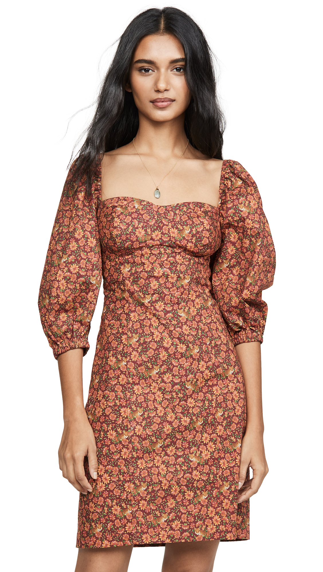 Buy FARM Rio online - photo of FARM Rio Leopard Garden Mini Dress