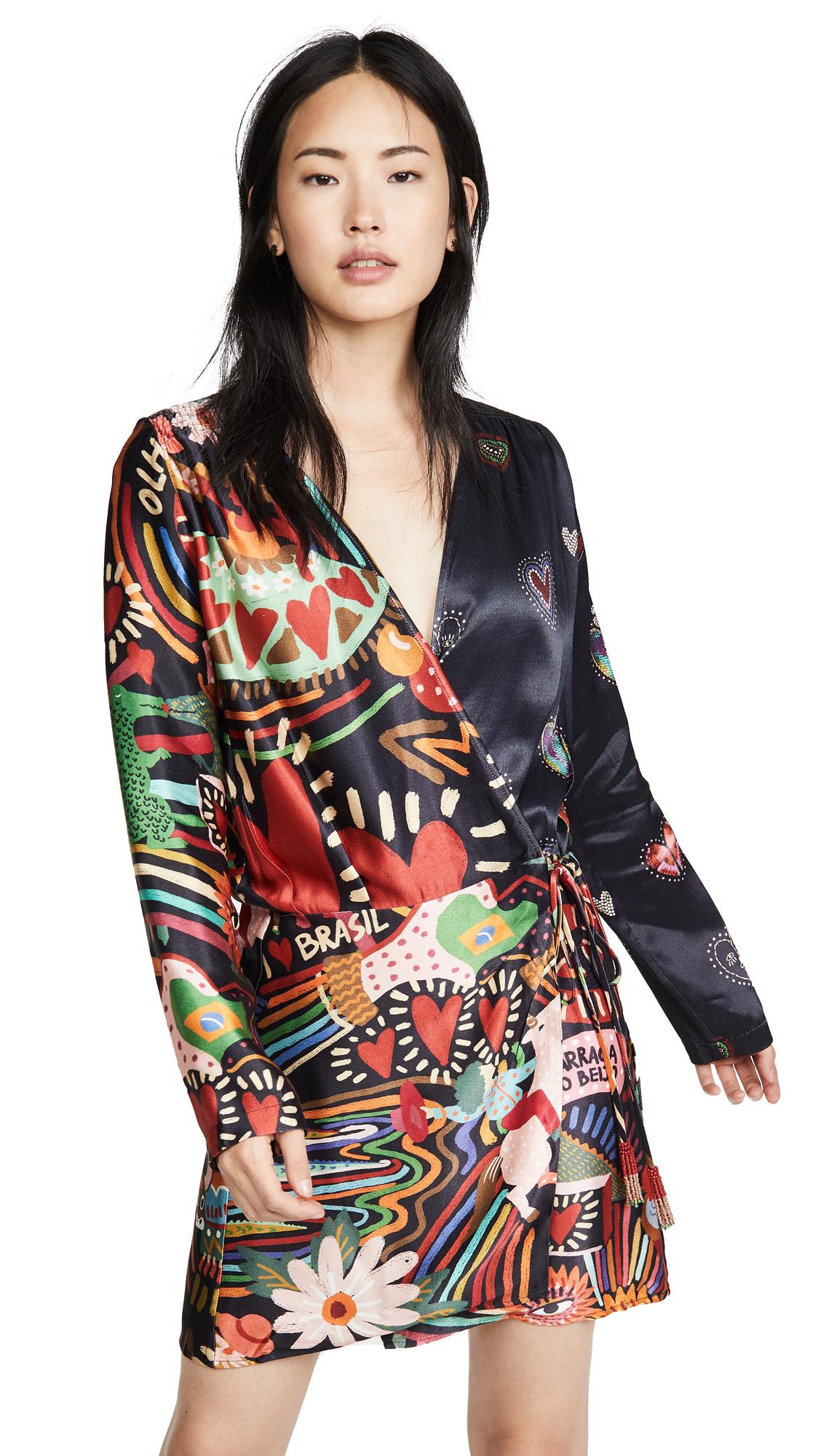 Buy FARM Rio Carnival Hearts Wrap Dress online beautiful FARM Rio Clothing, Dresses