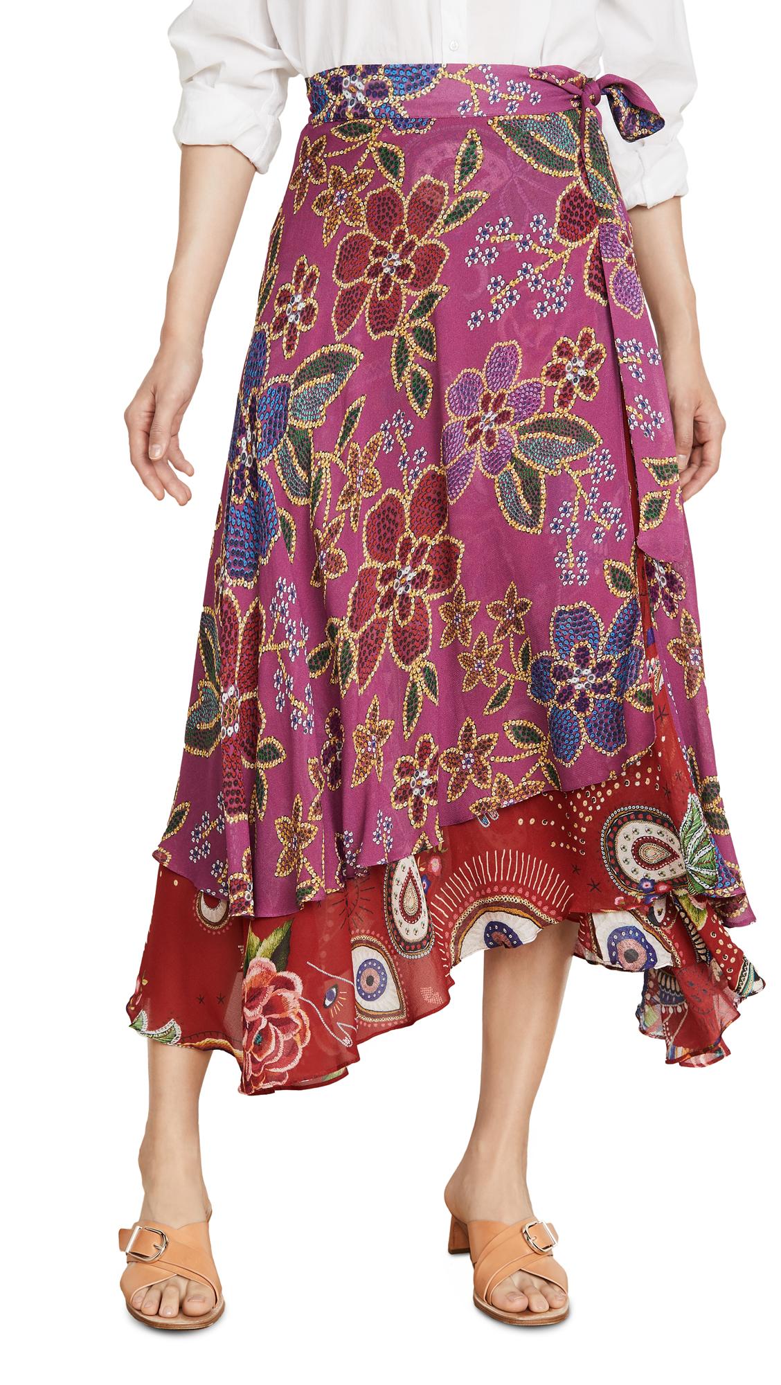 Buy FARM Rio online - photo of FARM Rio Mystic Flowers Skirt