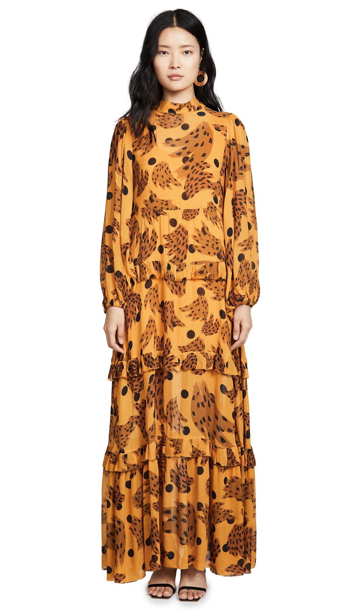 Buy FARM Rio online - photo of FARM Rio Caramel Banana Maxi Dress