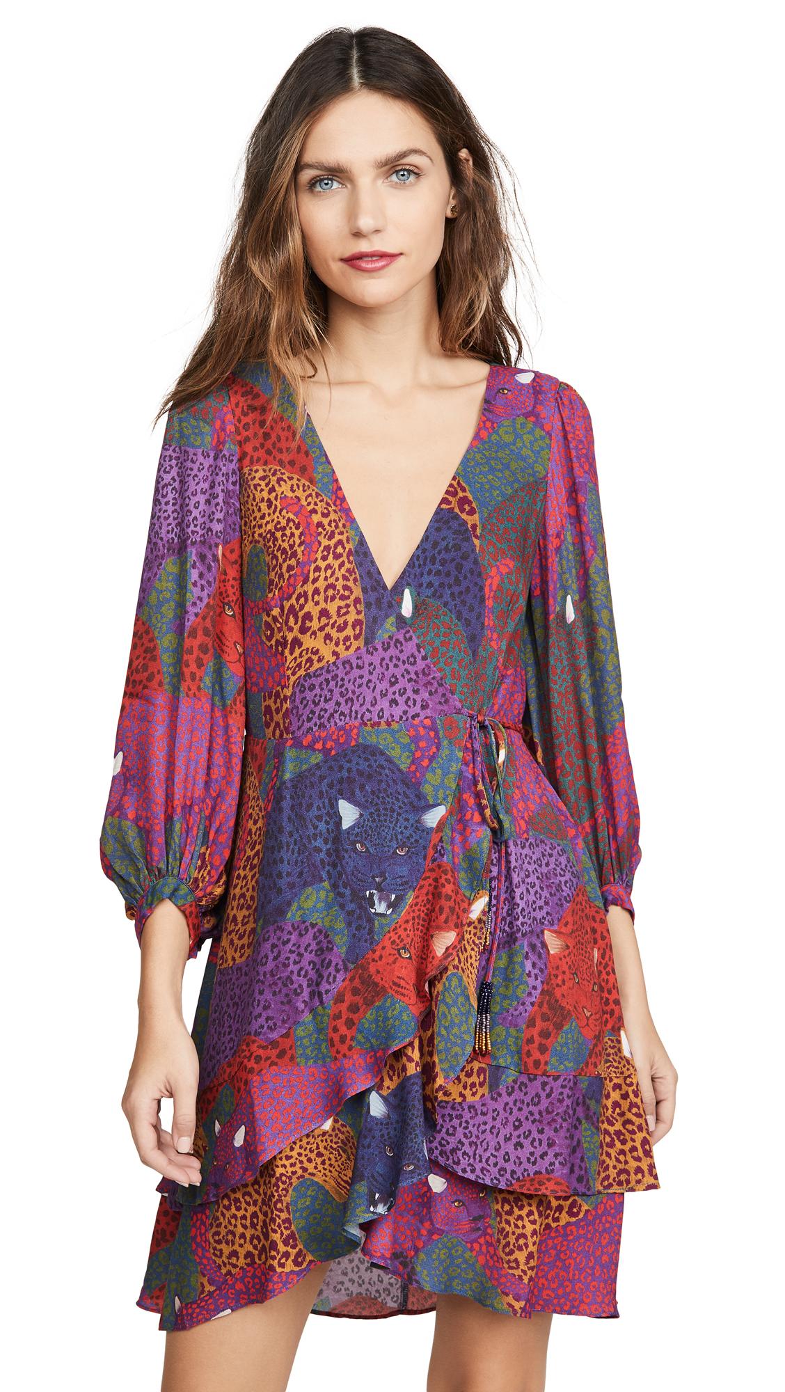 Buy FARM Rio Rainbow Jaguar Wrap Dress online beautiful FARM Rio Clothing, Dresses