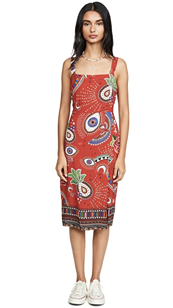 FARM Rio Mystic Red Slip Dress