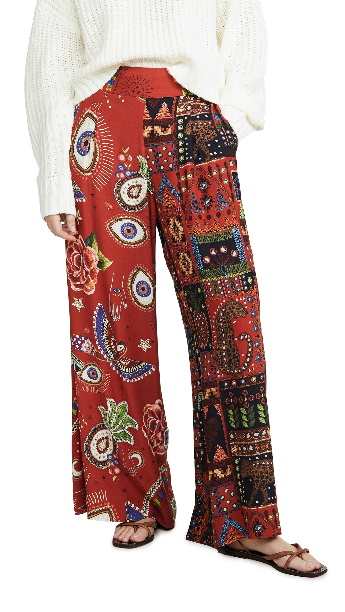 Buy FARM Rio online - photo of FARM Rio Mistic Red Mixed Print Pants