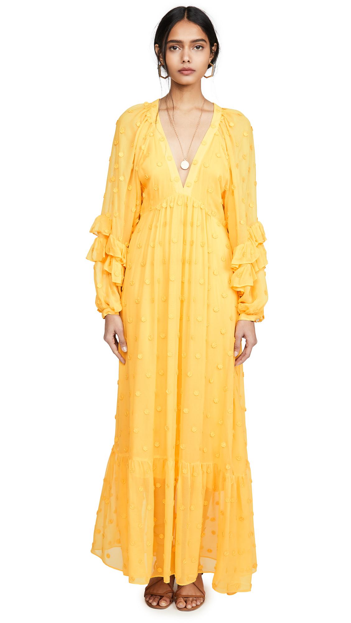 Buy FARM Rio online - photo of FARM Rio Floral Detail Maxi Dress