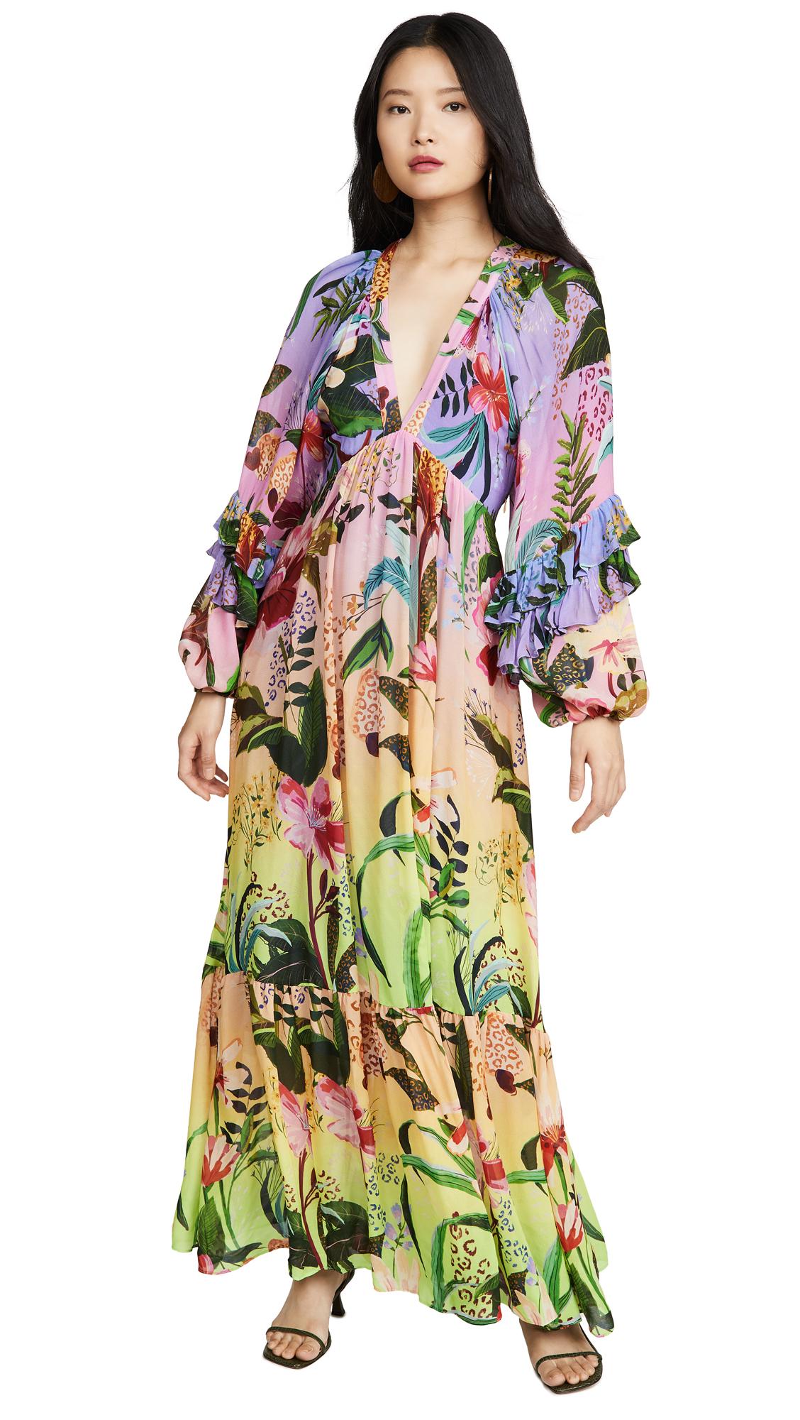 Buy FARM Rio online - photo of FARM Rio Amazonian Ombre Maxi Dress