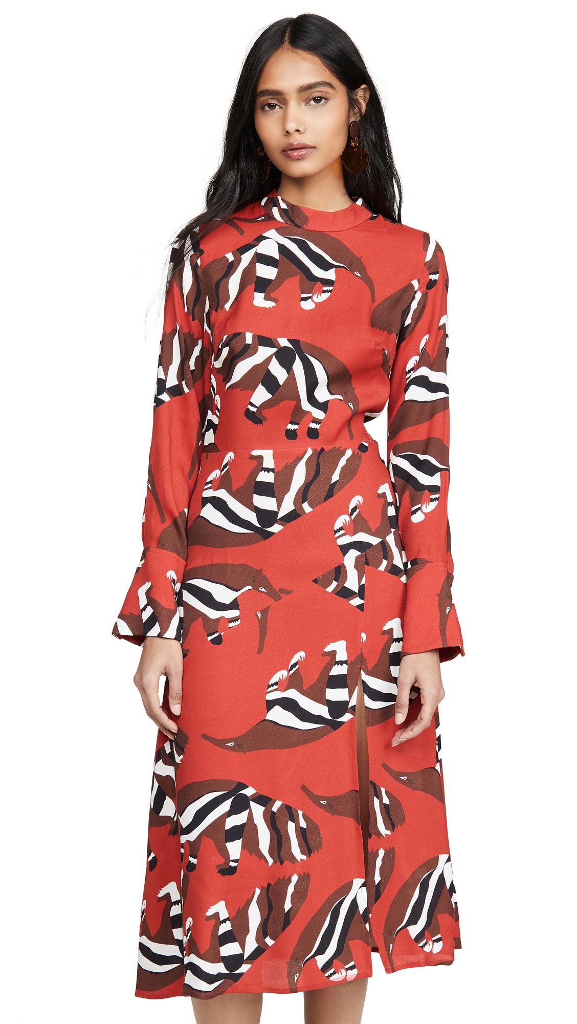 Buy FARM Rio online - photo of FARM Rio Winter Jungle Midi Dress
