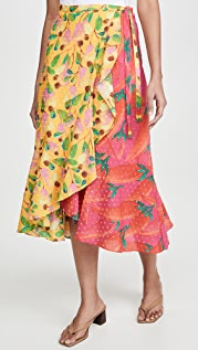 FARM Rio 花园混合裹身半身裙