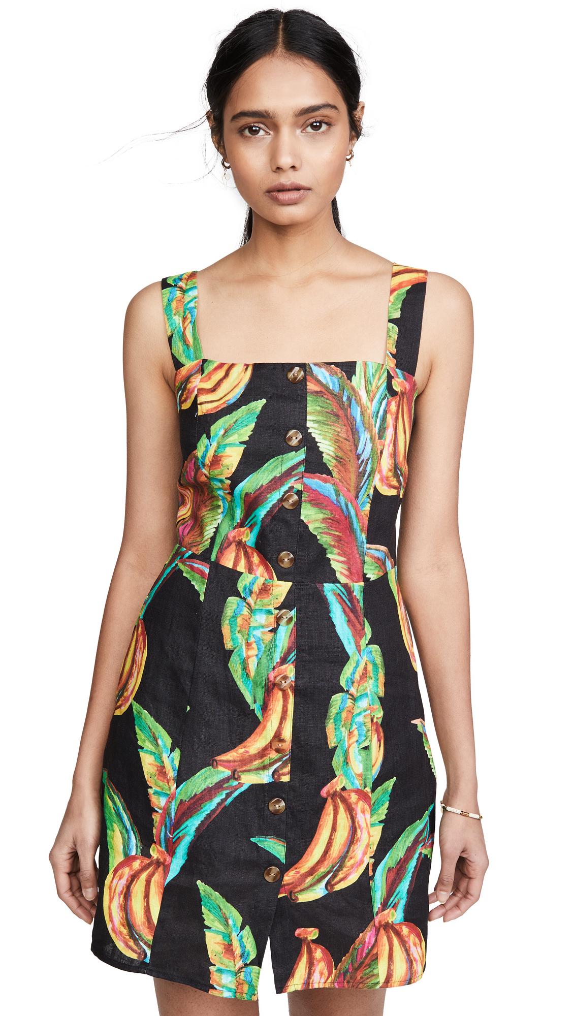 Photo of FARM Rio Preta Banana Linen Mini Dress - shop FARM Rio Clothing, Dresses online