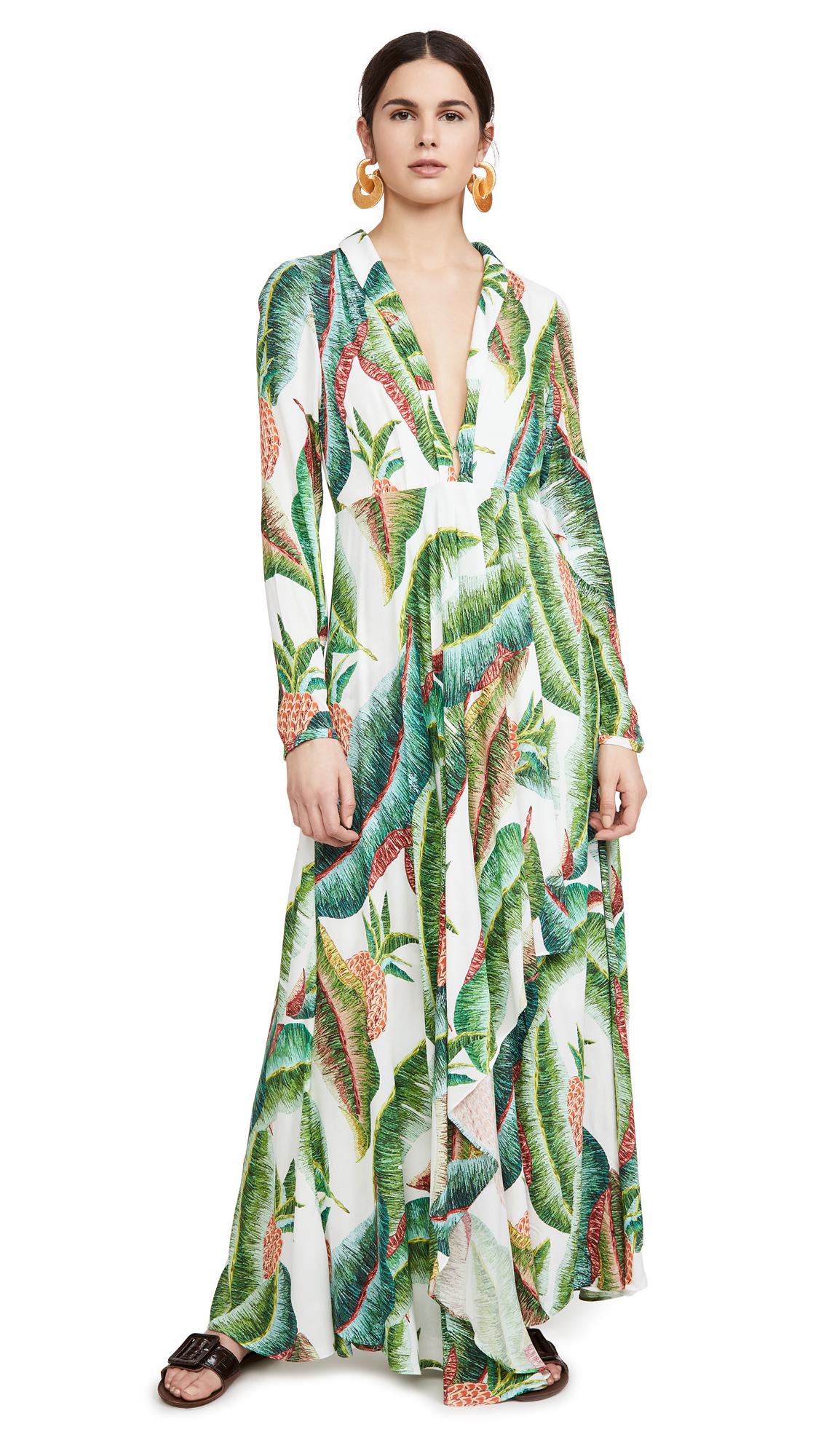 Buy FARM Rio Forest Palm Maxi Dress online beautiful FARM Rio Clothing, Dresses