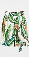 FARM Rio Forest Palm 亚麻短裤