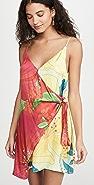 FARM Rio Mixed Pietra Mini Wrap Dress