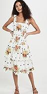 FARM Rio White Nanaju Midi Dress