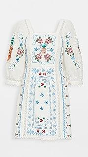 FARM Rio Romantic Embriodery Mini Dress